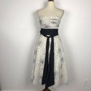 BCBG Max Azria Raised Dot Strapless Dress